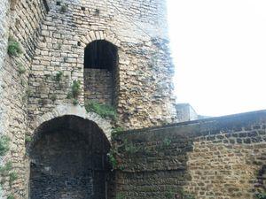 Courtine du donjon, château de Sedan