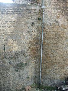 Chaînage courtine-donjon, château de Sedan