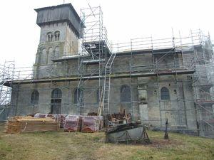 Vue générale [3], église fortifiée de la Nativité-de-la-Vierge à Dugny-sur-Meuse